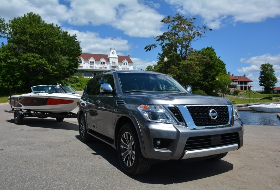 Nissan SUVs showcase towing abilities