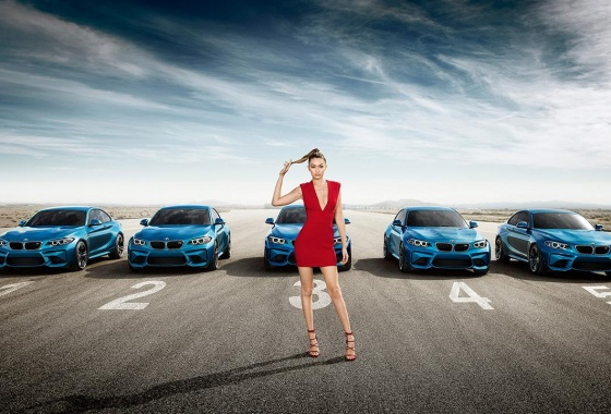 Model Gigi Hadid featured in new BMW M2 campaign